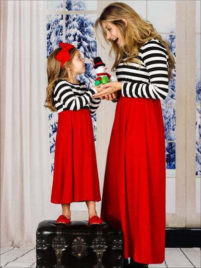 Mommy & Me Family Matching Striped Maxi Dress - Mommy and Me Dress
