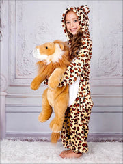Mommy & Me Fleece Leopard Print Onesie Pajamas - Leopard / 3T - Mommy and Me Pajamas