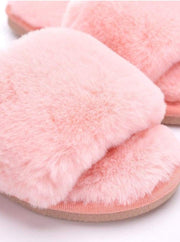 Mommy & Me Fuzzy Bedroom Slippers - Girls Pajama