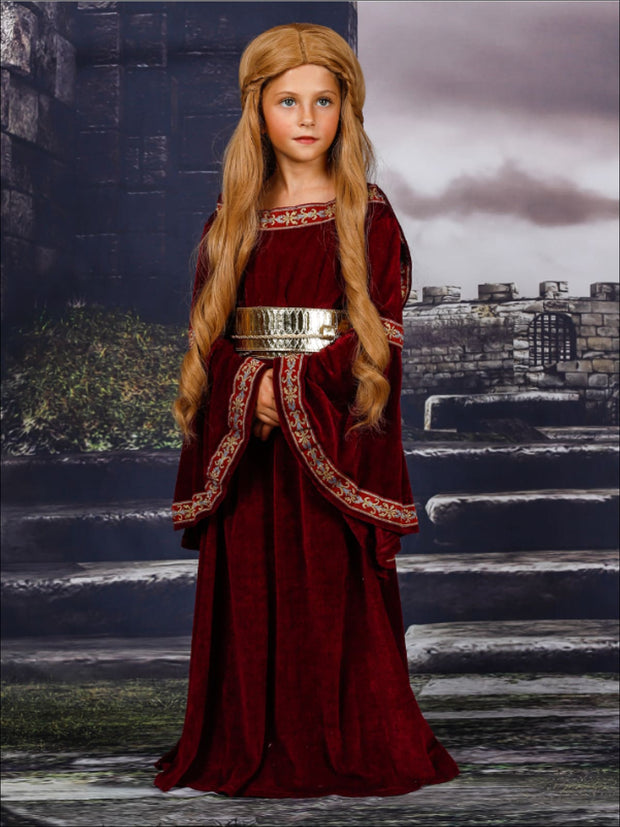 Mommy & Me Game of Thrones Inspired Evil Sorceress/Cersei Costume Dress - Red / 4T-5Y - Mommy & Me Costume