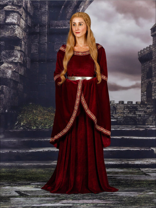 Mommy & Me Game of Thrones Inspired Evil Sorceress/Cersei Costume Dress - Red / Mom - S/M - Mommy & Me Costume