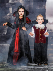 Mommy & Me Gothic Vampire Halloween Costumes - Mommy & Me Costume