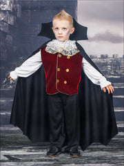 Mommy & Me Gothic Vampire Halloween Costumes - Red / Boy 4T/5Y - Mommy & Me Costume