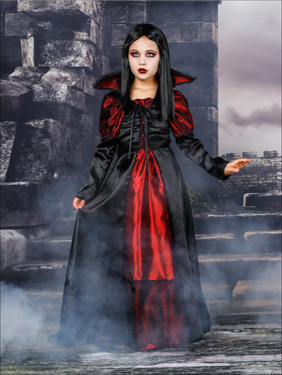 Mommy & Me Gothic Vampire Halloween Costumes - Red / Girl 4T/5Y - Mommy & Me Costume