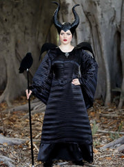 Mommy & Me Maleficent & Aurora from Sleeping Beauty Inspired Deluxe Halloween Costume - Girls Halloween Costume