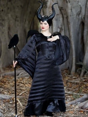 Mommy & Me Maleficent & Aurora from Sleeping Beauty Inspired Deluxe Halloween Costume - Maleficent / One Size / Black - Girls Halloween