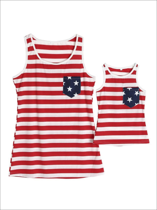 Mommy & Me Matching American Flag Tank Top - Mommy & Me Top