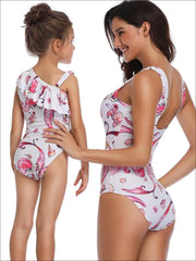 Mommy & Me Matching Mermaid Print One Piece Swimsuit - Mommy & Me Swimsuit