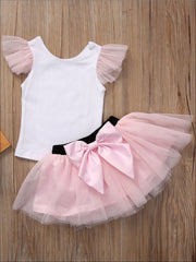 Mommy & Me Matching Spring Tutu Dress - White & Pink / S - Mommy & Me Dress