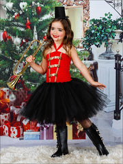 Mommy & Me Nutcracker and the Four Realms Inspired Halloween Tutu Dress Costume - Red / 2T - Mommy & Me Costume