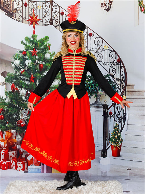 Mommy & Me Nutcracker and the Four Realms Inspired Halloween Tutu Dress Costume - Red / S/M - Mommy & Me Costume