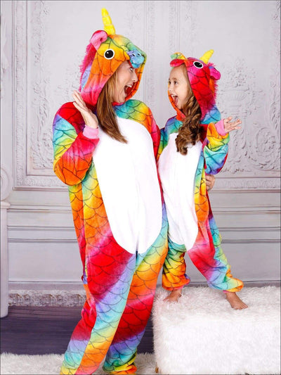 Mommy & Me Rainbow Scale Unicorn Pajamas - Girls Pajama