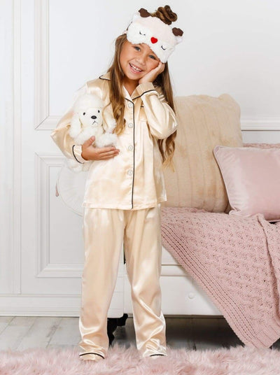 Mommy & Me Silk Long Sleeve Pajama Set - Girls Pajama