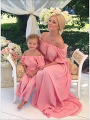 Mommy & Me Spring Off the Shoulder Maxi Dress - Mommy and Me Dress