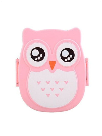 Pink Owl Lunch Box Container - Pink / 6.30 * 5.12 * 2.56 inch - Owl Lunch Box