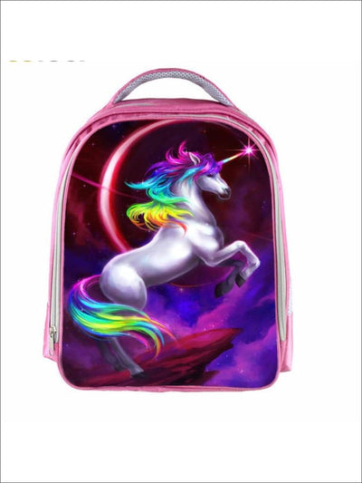 Preschool 13 Pink Rainbow Unicorn Backpack - Pink Rainbow / 13 in - Unicorn Print Backpack
