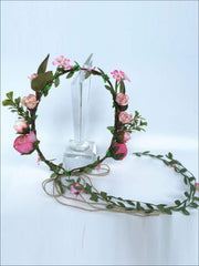 Repunzel Inspired Flower Halo with Wreath - Girls Halloween Costume