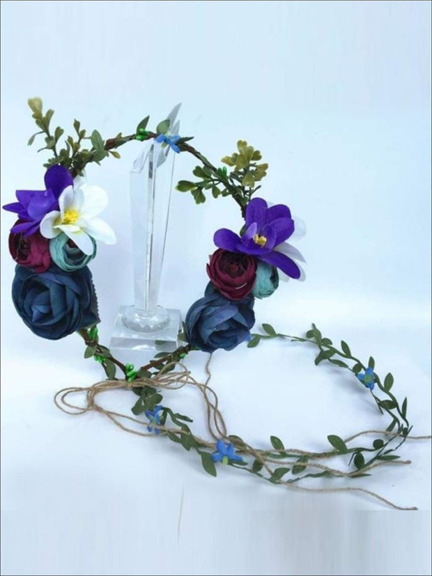 Repunzel Inspired Flower Halo with Wreath - Purple / One Size - Girls Halloween Costume