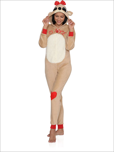 Rudolph the Red-Nosed Reindeer Clarice Union Suit Onesie Pajama - M / Red