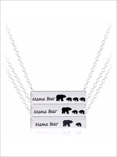 Silver Mothers Day Necklace Mama BearAPR17CNALNECK15S