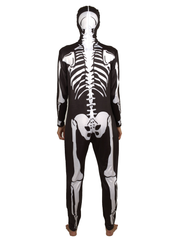 Unisex Adult Skeleton Costume Bodysuit Onesie