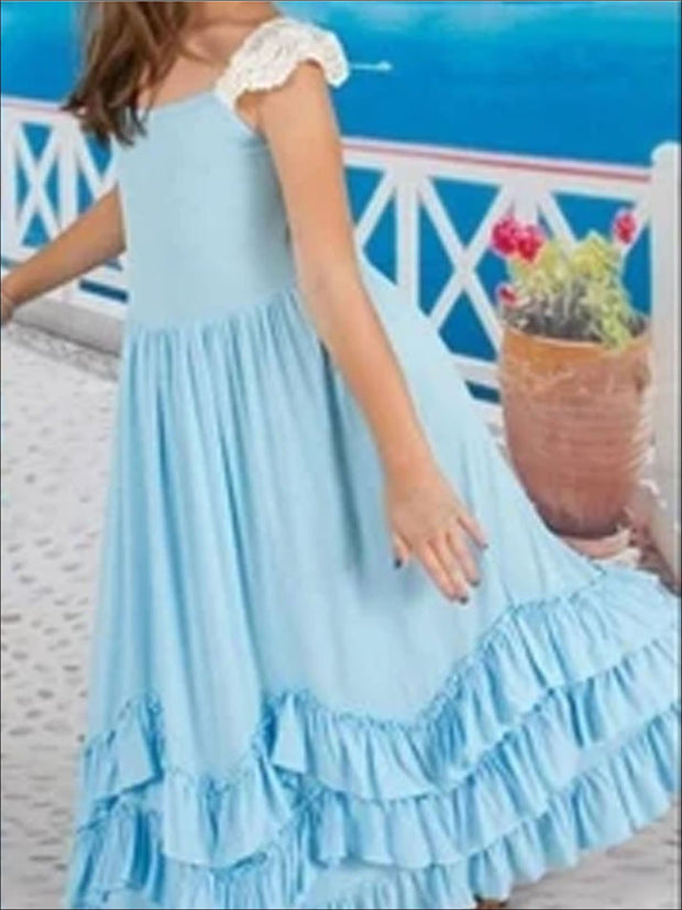 Sleeveless Ruffled Princess Maxi Dress