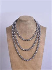 Vintage Style Long Pearl Necklace (Multiple Color Options) - Gray / 150cm - Girls Accessories