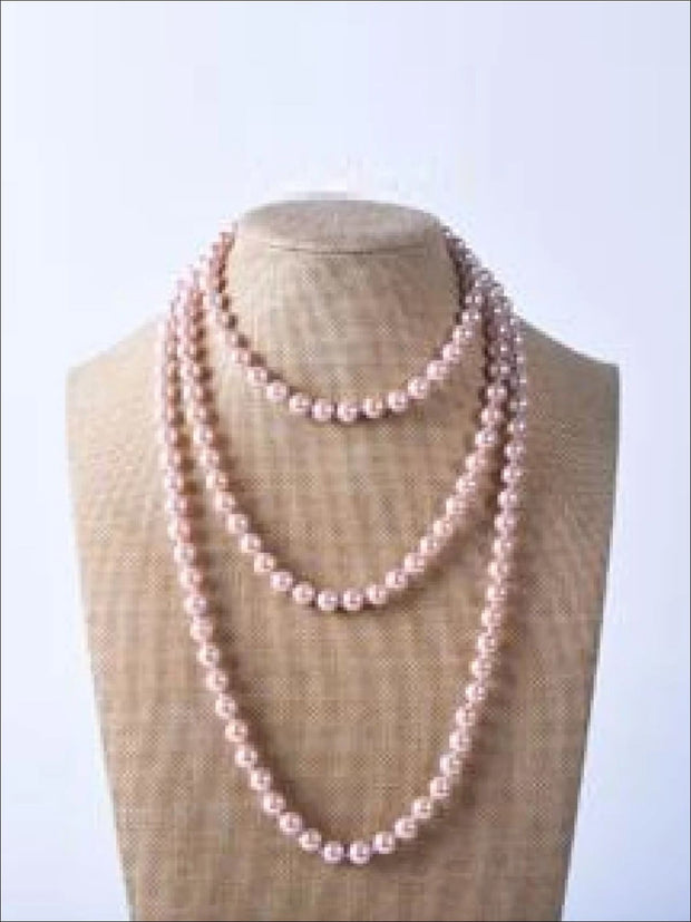 Vintage Style Long Pearl Necklace (Multiple Color Options) - Pink / 150cm - Girls Accessories