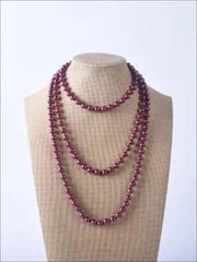 Vintage Style Long Pearl Necklace (Multiple Color Options) - Purple / 150cm - Girls Accessories