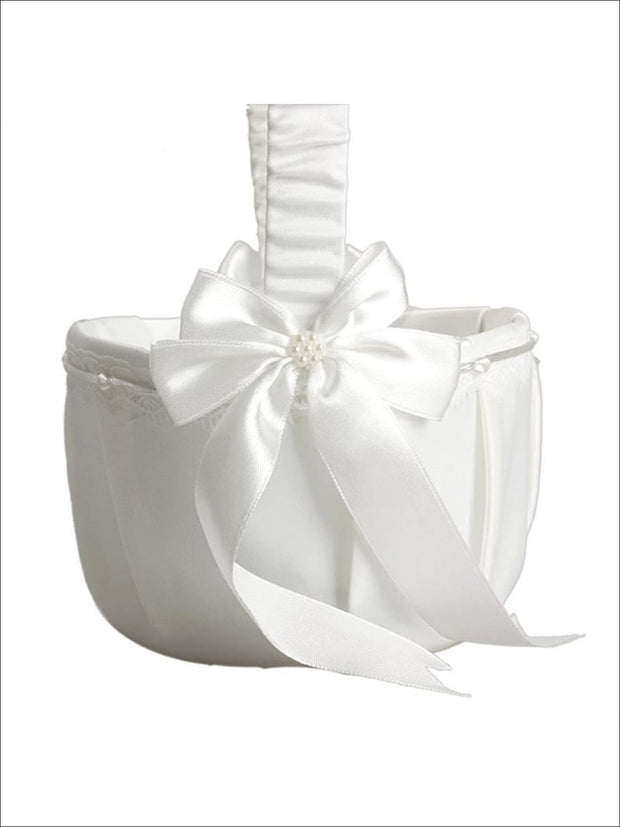 Wedding Flower Girl Basket - Flower Girls Basket