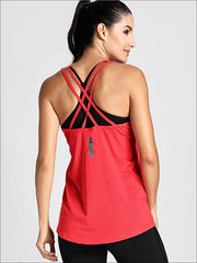 Womens Active Strappy Back Tank Top - Womens Activewear