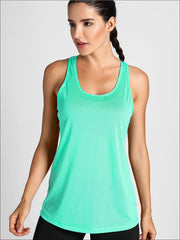 Womens Active Strappy Back Tank Top - XS / Mint - Womens Activewear