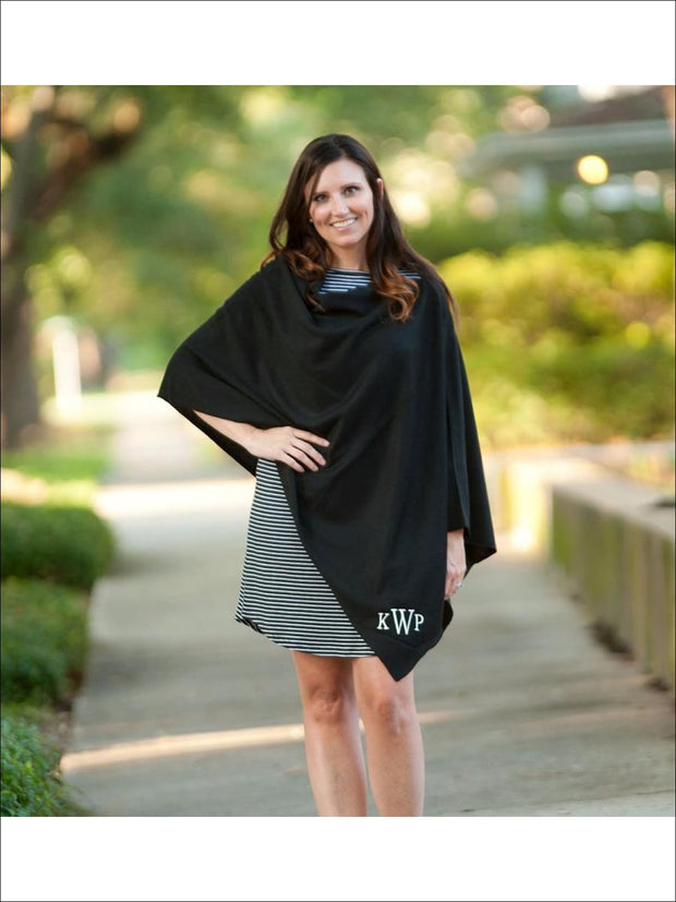 Womens Black Chelsea Poncho - Womens Outerwear