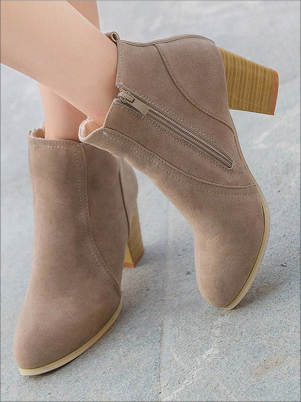 Womens Block Heel Ankle Boots - Womens Boots