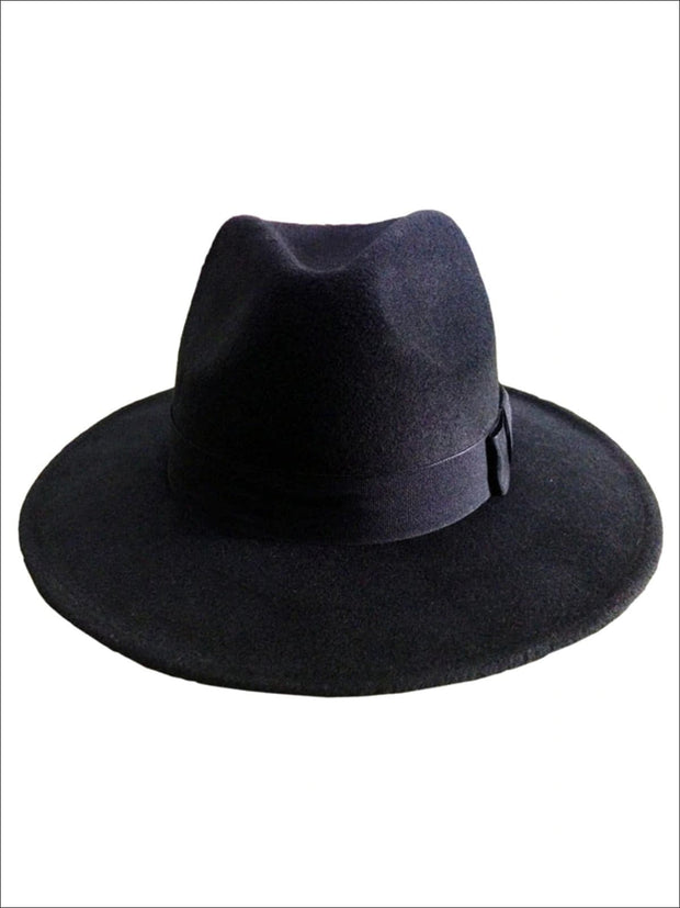 Womens Cashmere Fedora Hat - Black - Womens Hats
