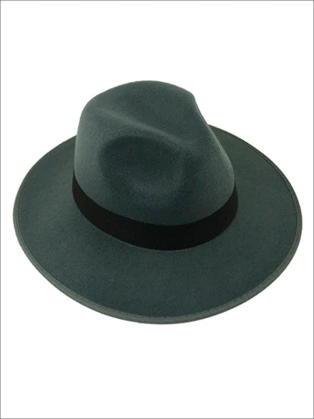Womens Cashmere Fedora Hat - Grey - Womens Hats