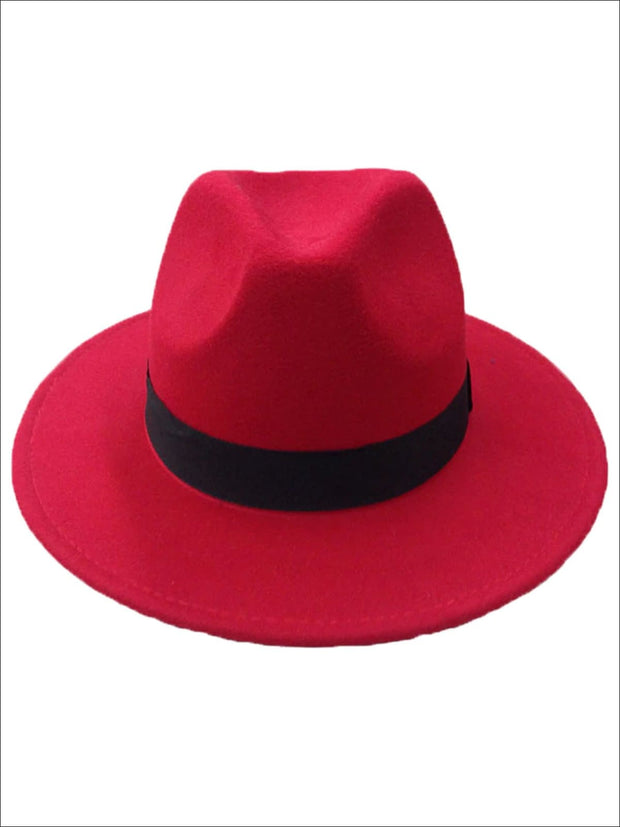 Womens Cashmere Fedora Hat - Hot Pink - Womens Hats