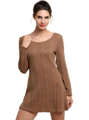 Womens Casual Long Sleeve Sweater Dress - Womens Fall Dresses