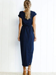 Womens Casual Long Tunic Dress - Womens Dresses