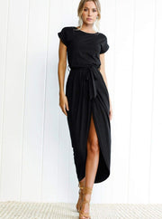 Womens Casual Long Tunic Dress - Black / XS - Womens Dresses