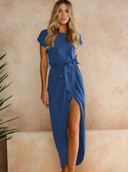 Womens Casual Long Tunic Dress - Blue / XS - Womens Dresses