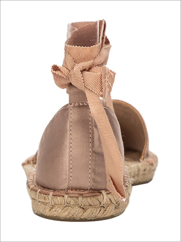 Womens Casual Silk Rome Cross-Strap Espadrilles - Womens Shoes