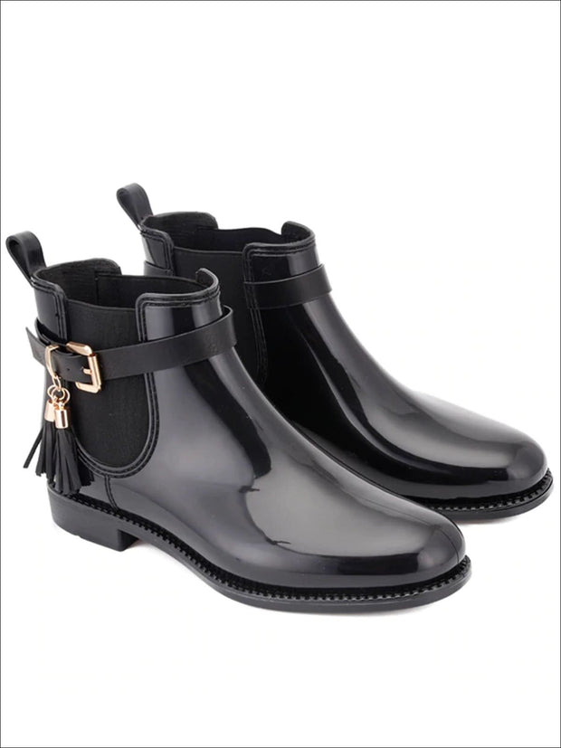 Womens Classic Buckle Waterproof Ankle Boots - Womens Boots