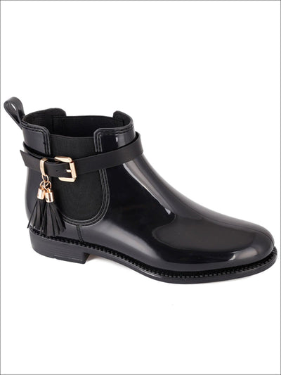 Womens Classic Buckle Waterproof Ankle Boots - 5 / Black - Womens Boots
