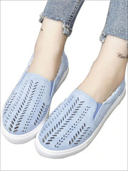 Womens Cut Out Canvas Shoes - Womens Shoes