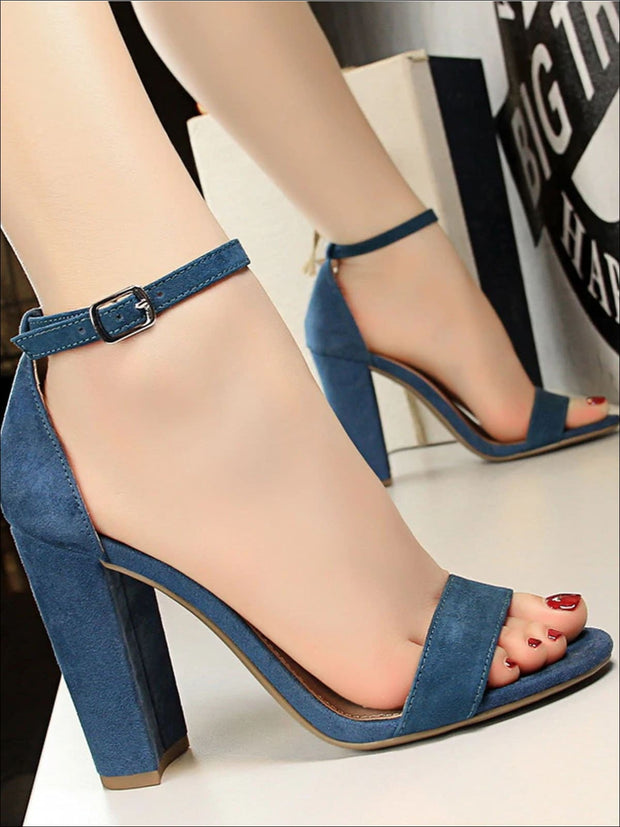 Womens Elegant High Heel Ankle Strap Sandals - Womens Sandals
