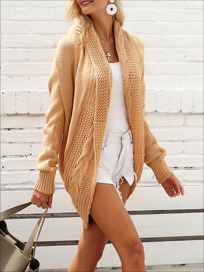 Women's Fall Knit Loose Casual Cardigan - Women's Outerwear