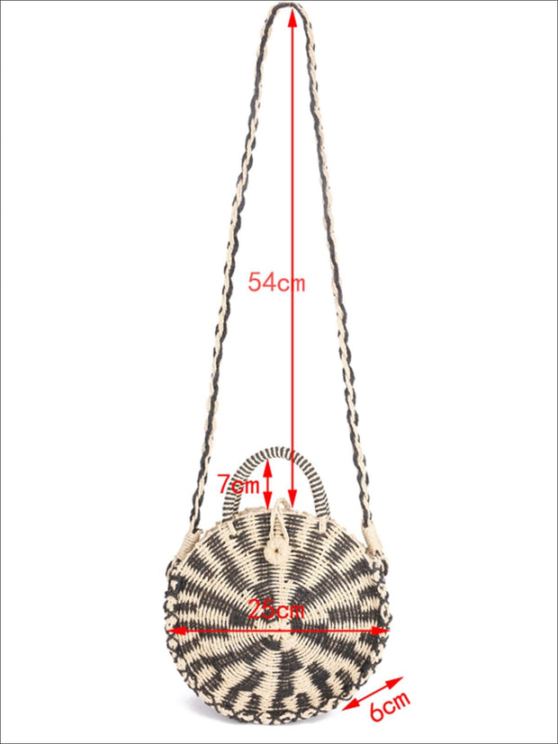Womens Fashion Straw Knitted Retro Chic Summer Bag - Womens Accessories