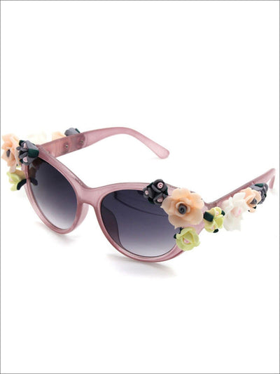 Womens Floral Baroque Sunglasses - Pink - Womens Accessories