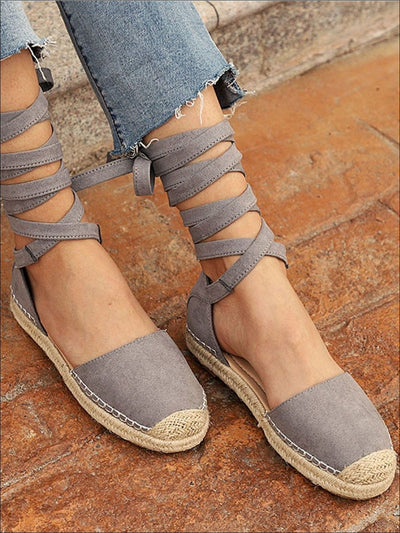 Womens Lace Up Espadrilles - Womens Shoes